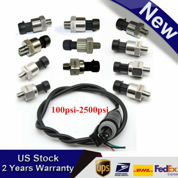 Stainless Steel Pressure transducer sender for oil fuel air water 100psi-2500psi