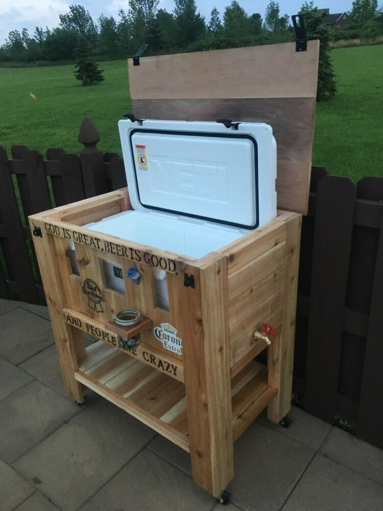 Wood Patio Cooler Plans: Yeti Patio Cooler Stand