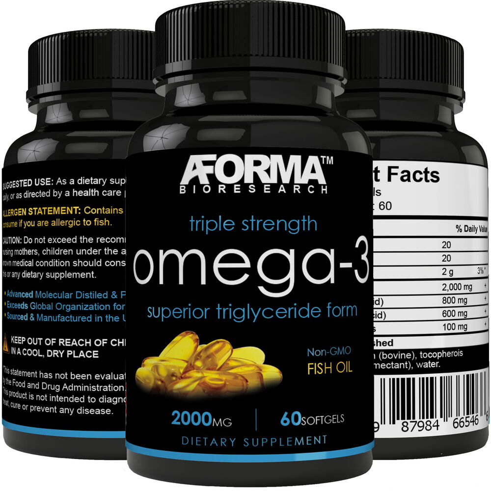 Ultra fish oil omega 3 2000mg supplement w 800 epa 600 for What is the best fish oil supplement