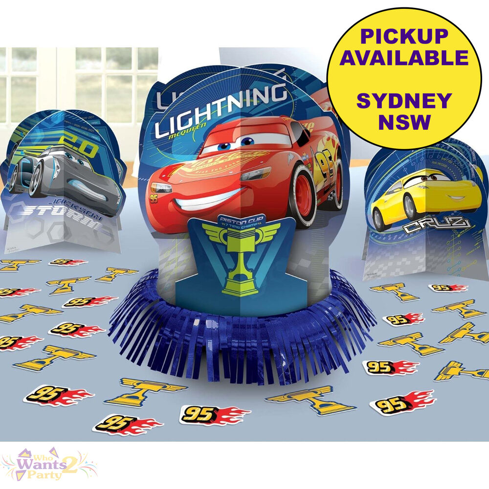 Details About DISNEY CARS 3 PARTY SUPPLIES 23pc TABLE DECORATING KIT BIRTHDAY DECORATIONS