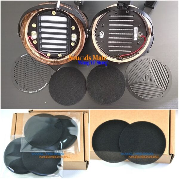 Fine-Tune Sounds Foam Sponge Disk Ear Pads For Audeze LCD 4 3 LCD2 X Headphone