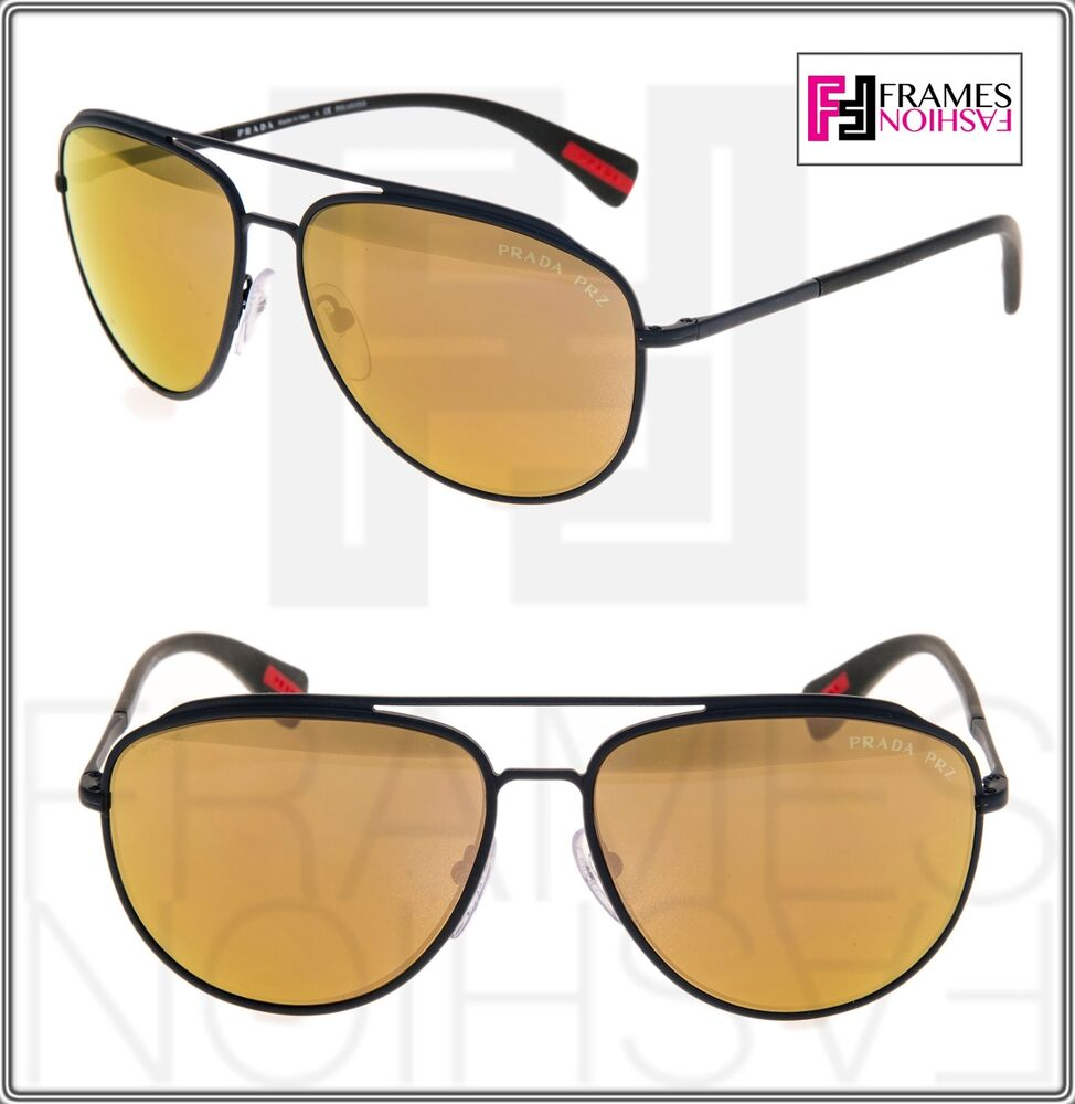 9c698b59f5 Details about PRADA Linea Rossa PS55RS Green Brown Gold Mirrored POLARIZED  Sunglasses SPS 55R