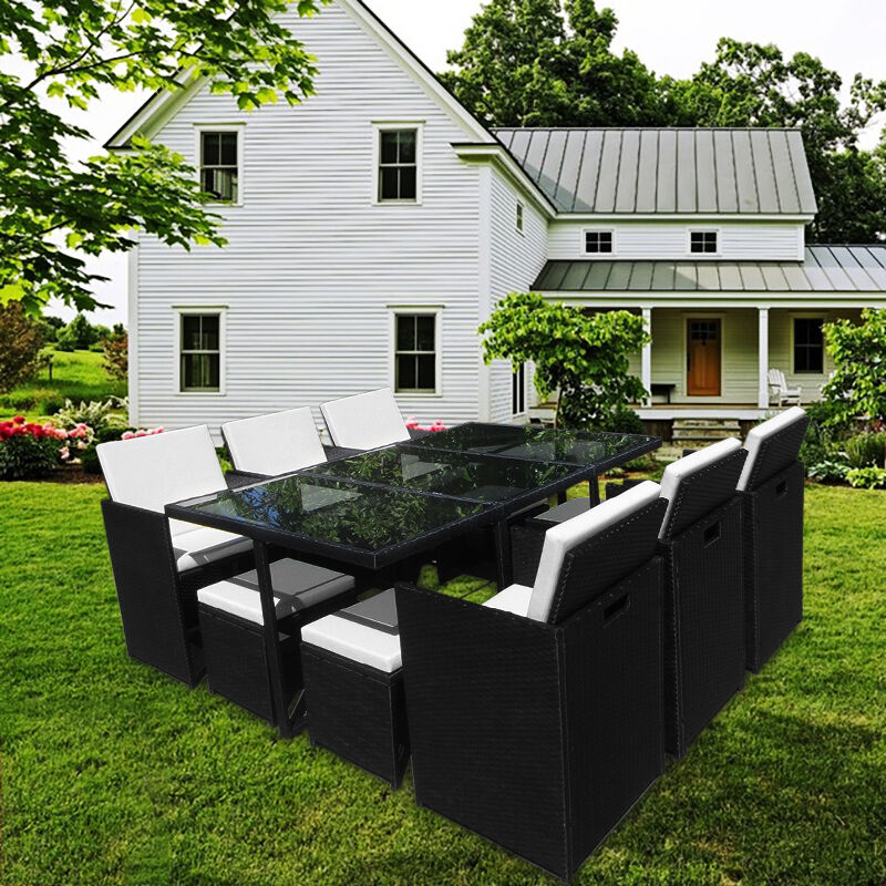 poly rattan garten garnitur kreta lounge set sitzgruppe essgruppe gartenm bel ebay. Black Bedroom Furniture Sets. Home Design Ideas