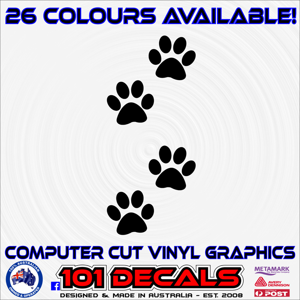 Details about 4 x5cm dog paw prints carcaravantrailercamper decal wall artwindow stickers