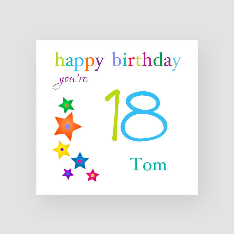 Details About Personalised Handmade Stars 18th Birthday Card