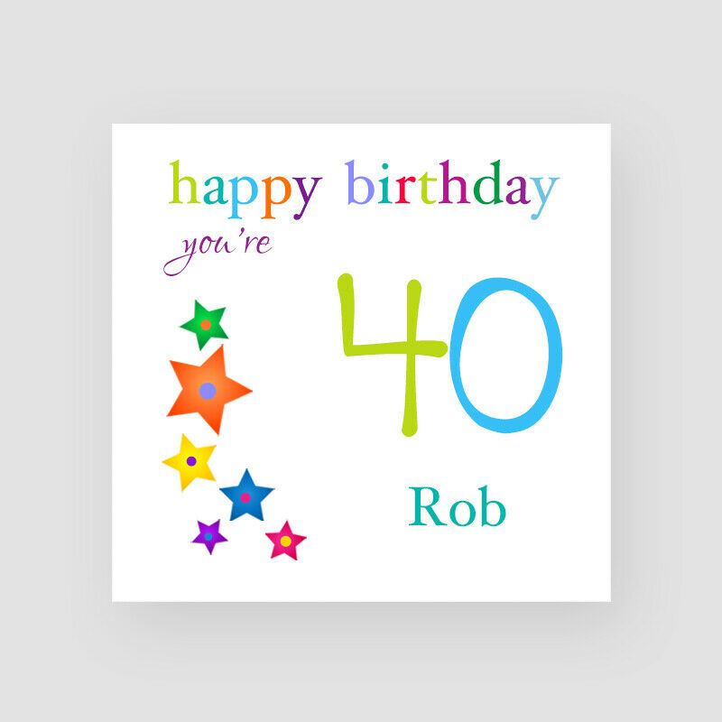 Details About Personalised Handmade Stars 40th Birthday Card