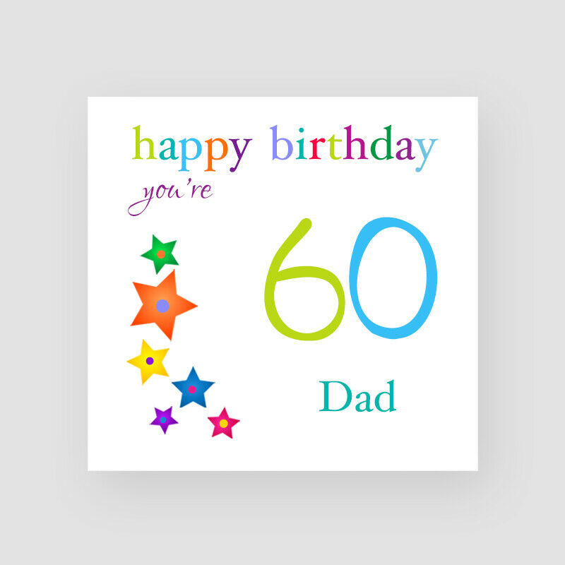 Details About Personalised Handmade Stars 60th Birthday Card