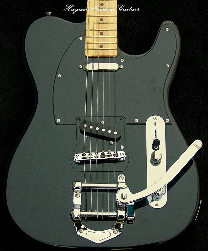 fender deluxe telecaster srv 39 s bigsby style trem custom neck modified by haywire ebay. Black Bedroom Furniture Sets. Home Design Ideas