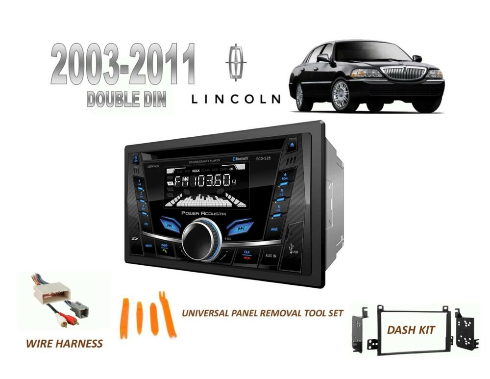 Details About 2003 2017 Lincoln Town Car Bluetooth Usb Mp3 Stereo Install Combo Kit