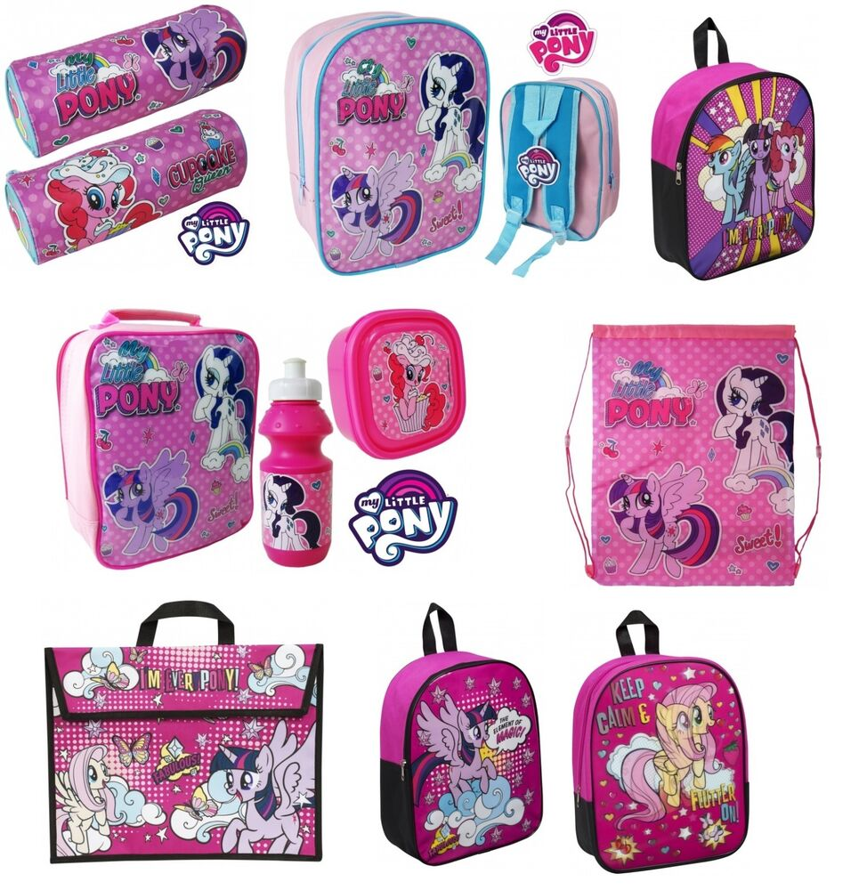 Kids S My Little Pony School Backpack Gym Lunch Box Bag Rucksack Large Small Ebay
