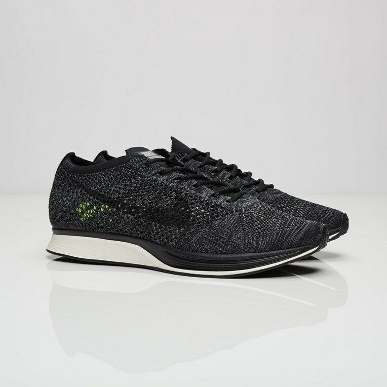 600fa3d0b4385 Details about NikeLab Flyknit Racer 526628-005 Black Black-Dark Grey-Volt  Men Size US 7 New