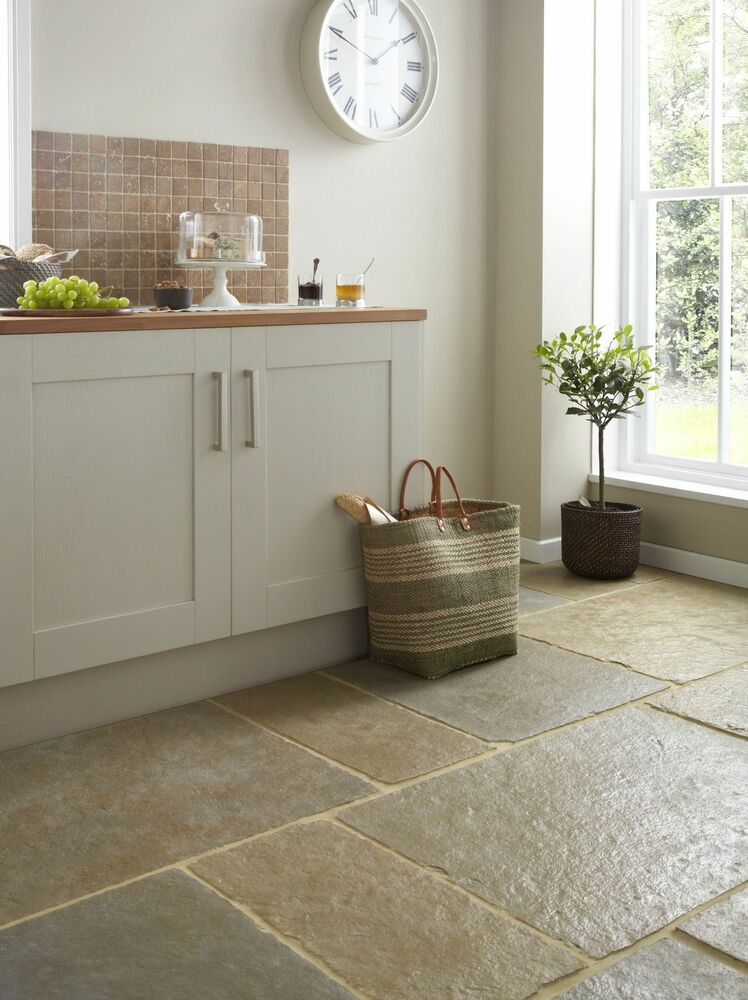 Sample Of Tumbled Umbrian Jaipur Limestone Floor Tiles