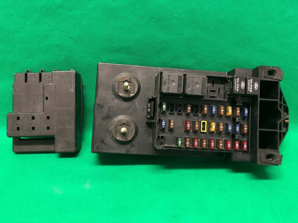 1998 98 ford f250 f150 truck interior fuse box relay ... 99 f150 interior fuse box