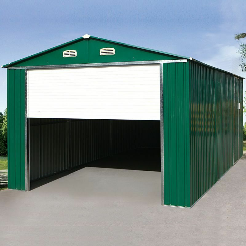 yardmaster garage berlin 1016t 3x5m metallgarage mit elektrischem rolltor ebay. Black Bedroom Furniture Sets. Home Design Ideas