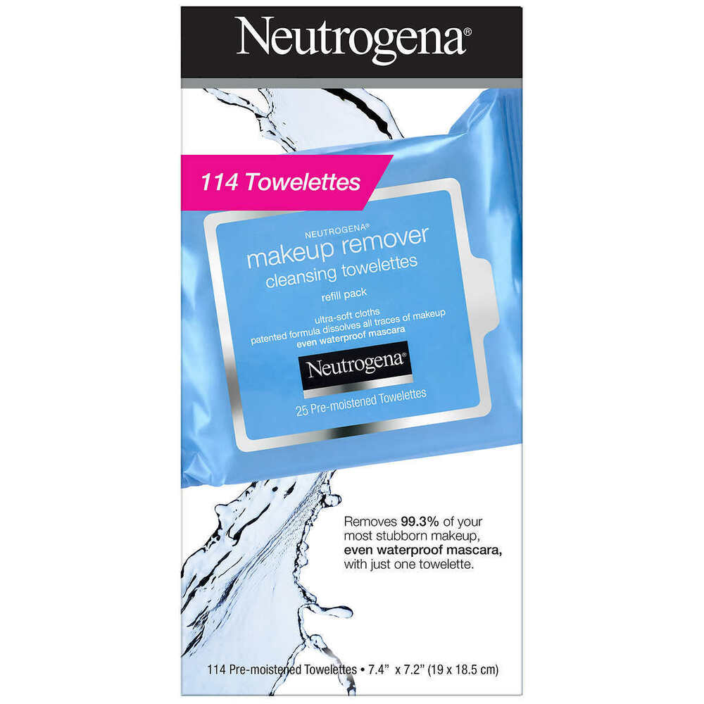 Neutrogena Makeup Remover Facial Towelettes, 25-114count + FREE SHIPPING (USA)    eBay