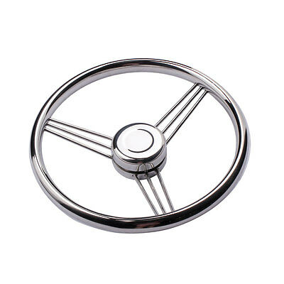 Marine Boat Stainless Steel 13-1/2'' Steering Wheel 9 Spokes Yacht Polished