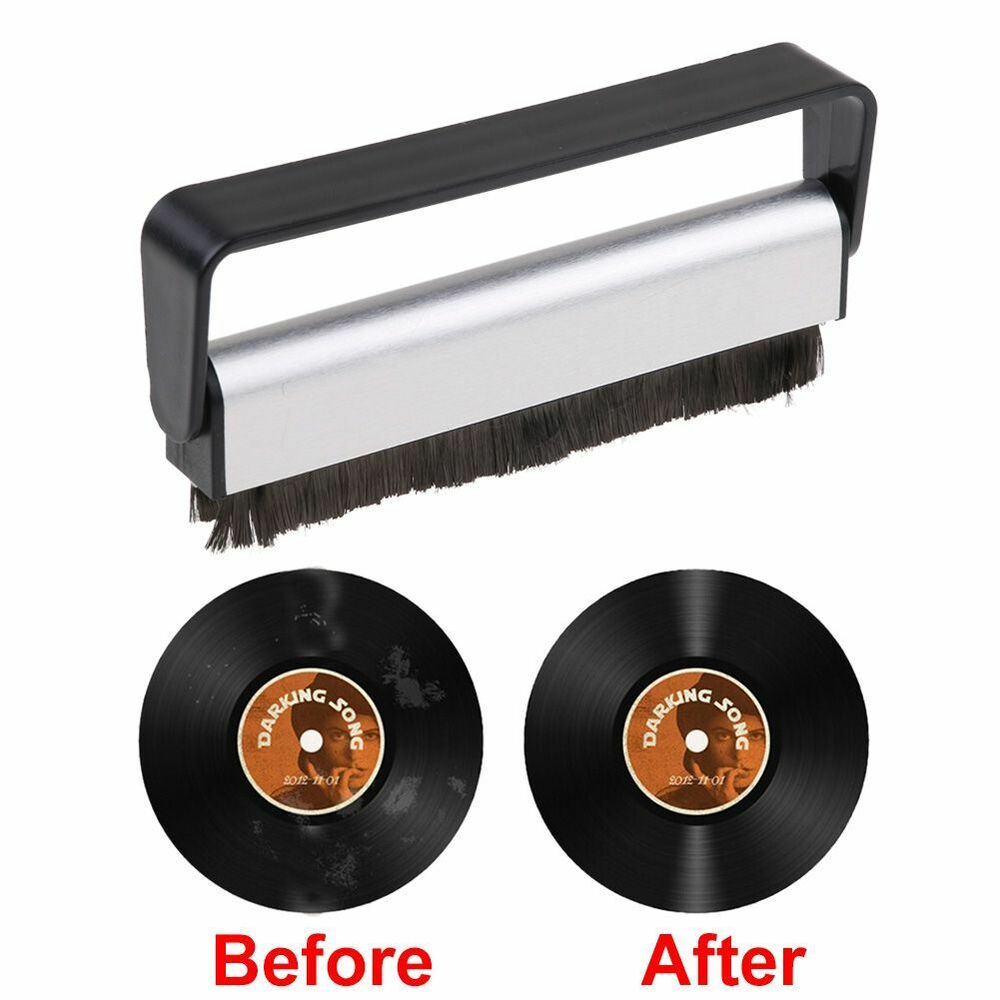Anti Static Vinyl Cd Record Cleaning Cleaner Pad Brush