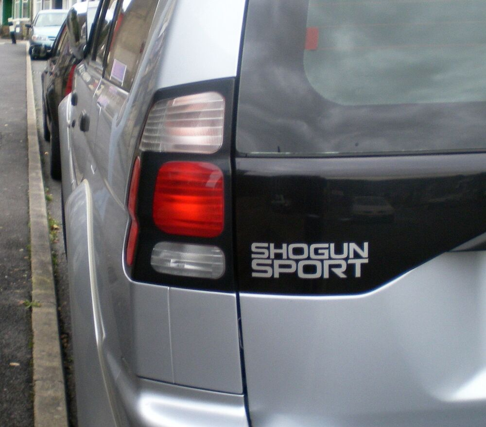 Details about mitsubishi shogun sport rear decal