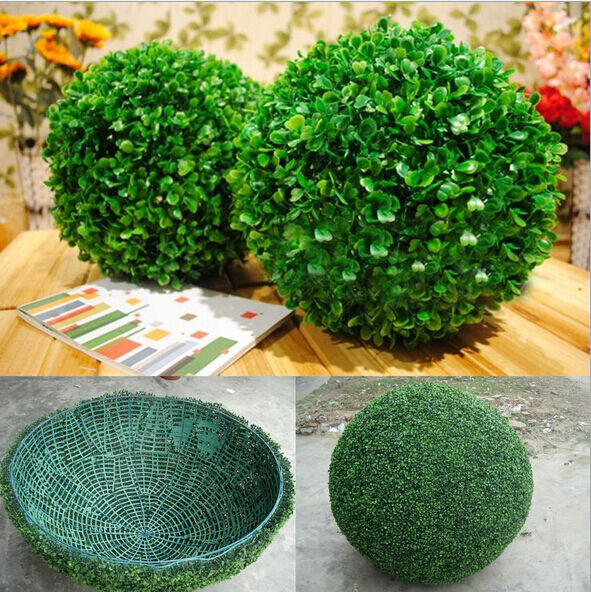 plant ball k nstliche pflanzen baum buchsbaum kugel hochzeit haus outdoor ebay. Black Bedroom Furniture Sets. Home Design Ideas