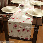 Rural Style Cotton Rose Flower Table Cloth / Cover 0.3 m X 1.5 m
