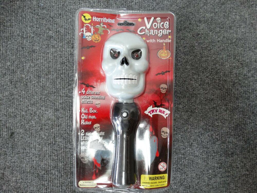 Halloween Voice Changer With 4 Different Voice Changing Effects  See Pics!!  | eBay