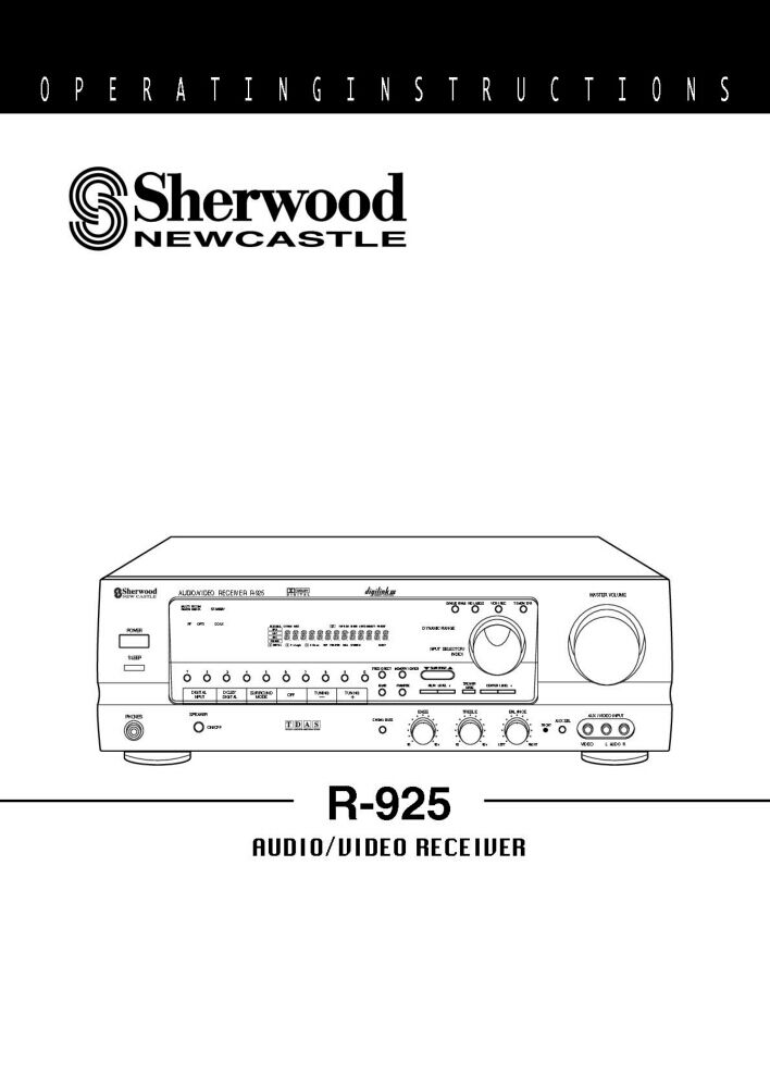 Sherwood R-925 Receiver Owners Instruction Manual | eBay on