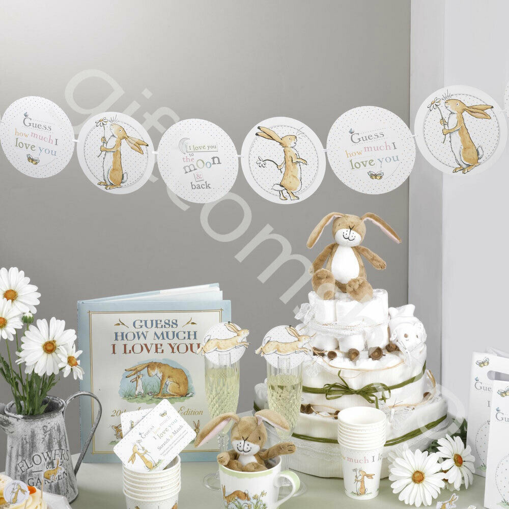 Guess how much i love you unisex baby shower party decorations neutral tableware ebay - Decoration baby shower fait maison ...