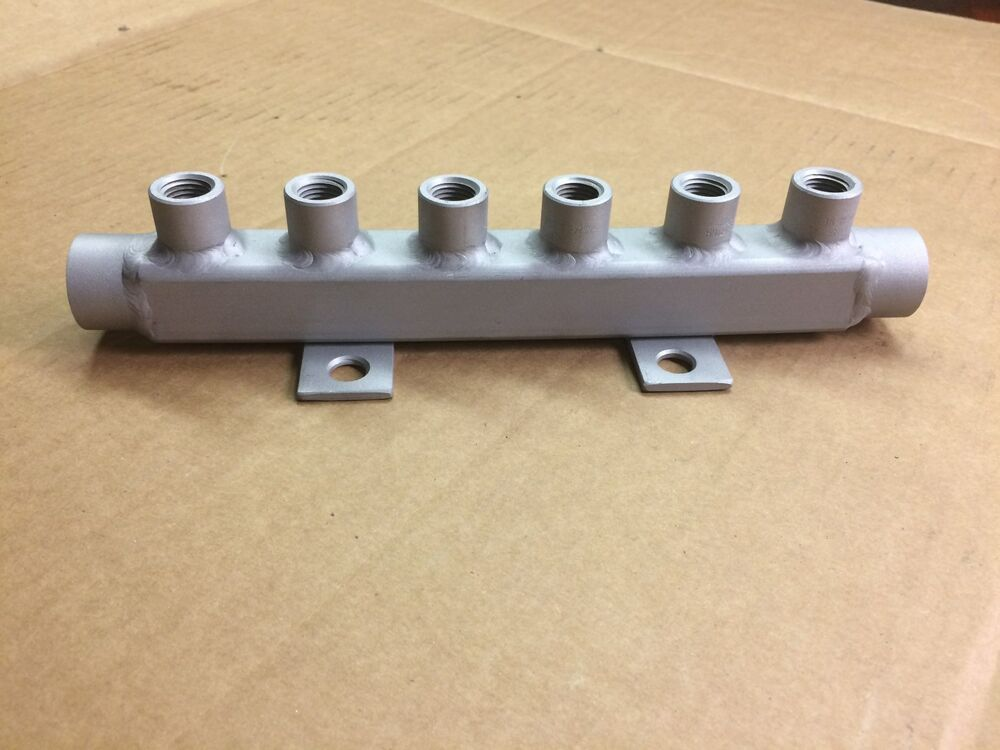 Stainless Steel Water Manifold Two 1 2 Npt Connects With