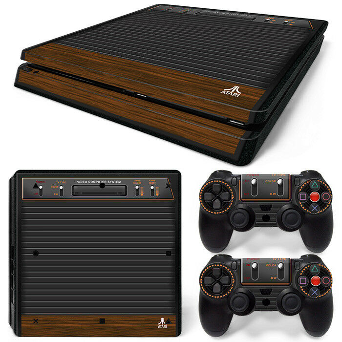 ps4 slim playstation 4 console skin decal sticker old atari retro custom design 743031185796 ebay. Black Bedroom Furniture Sets. Home Design Ideas