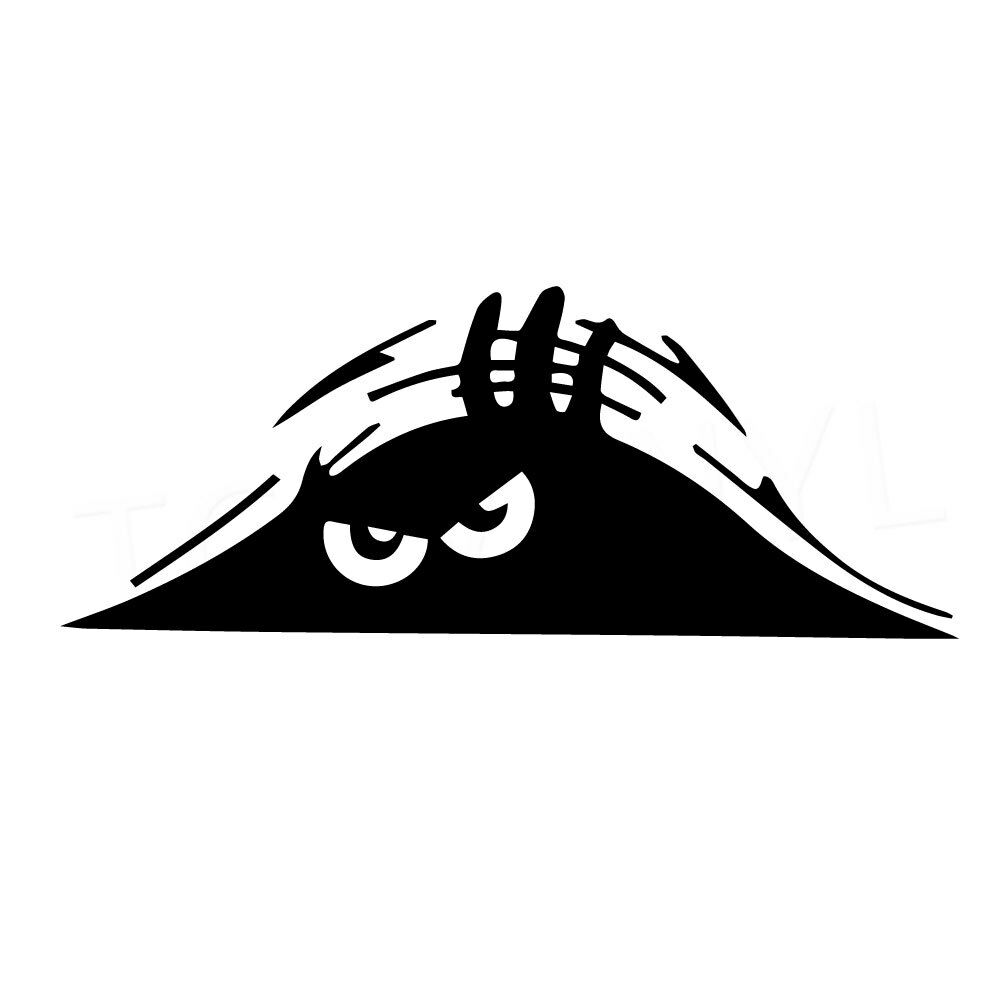 Details about 8 angry peeker vinyl decal sticker car window laptop monster hiding