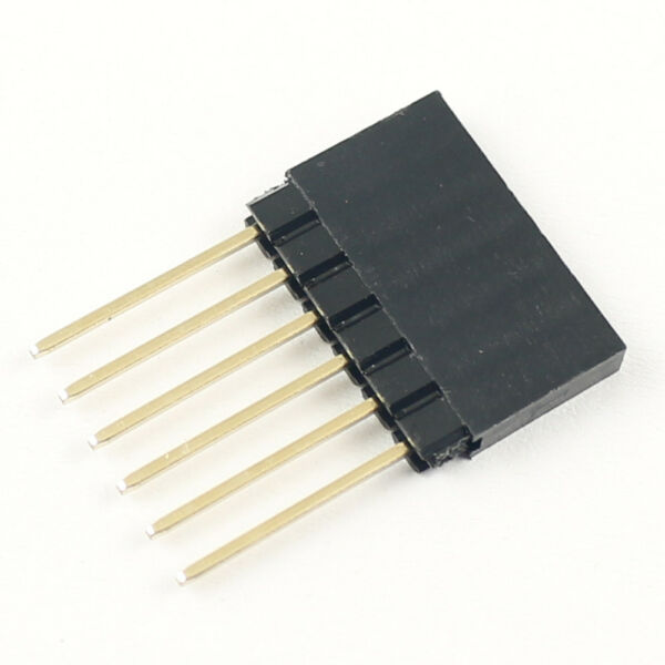 10Pcs 2.54mm Pitch 6 Long Pin Single  Stackable Shield Female Header for Arduino