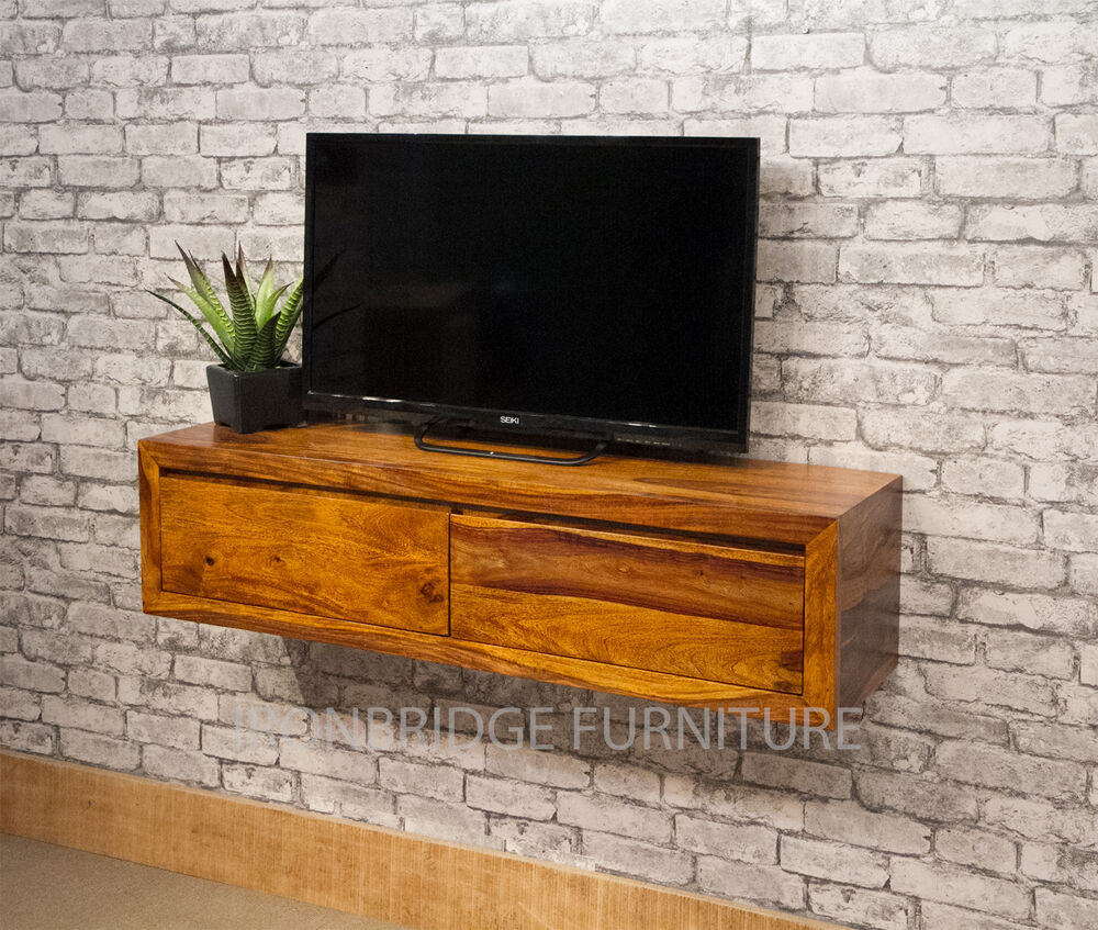 Rosewood console tables ebay wall mounted solid sheesham wood console table tv unit 2 drawers ibf 3001 geotapseo Image collections