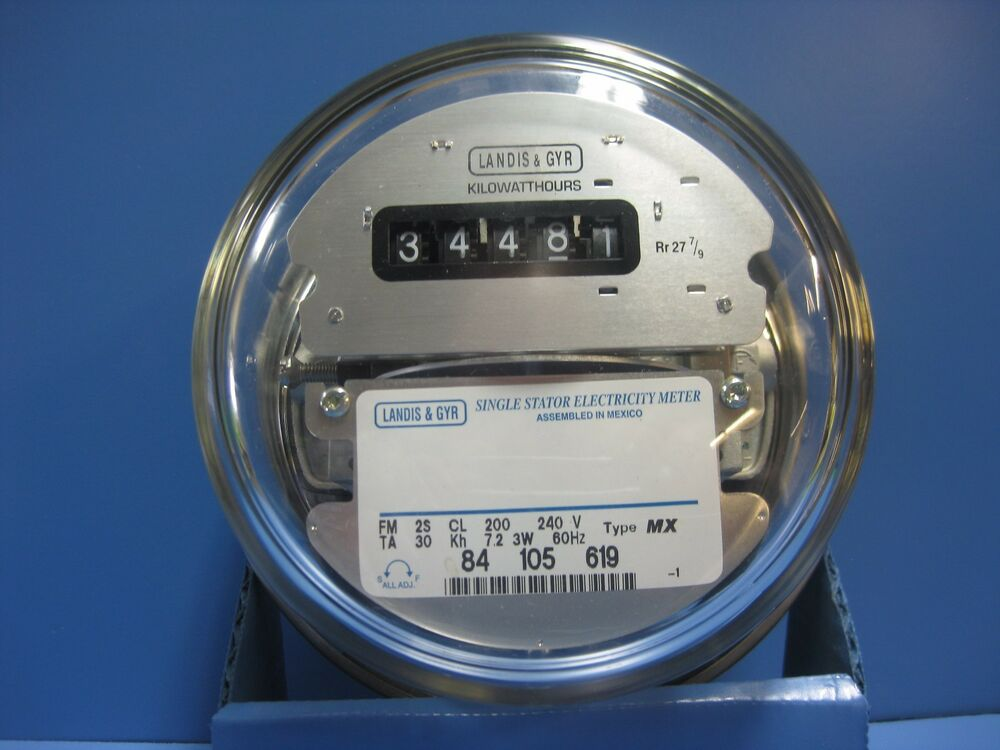 Electric Power Meter : Landis gyr electric watthour meter easy read v
