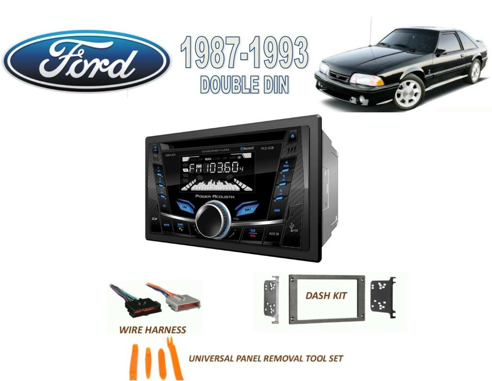 s l1000 1987 1993 ford mustang double din car stereo kit bluetooth cd usb  at nearapp.co