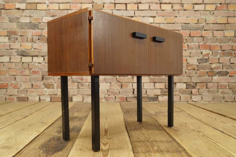 vintage mini sideboard 60er kommode mid century design holz anrichte 60s ebay. Black Bedroom Furniture Sets. Home Design Ideas