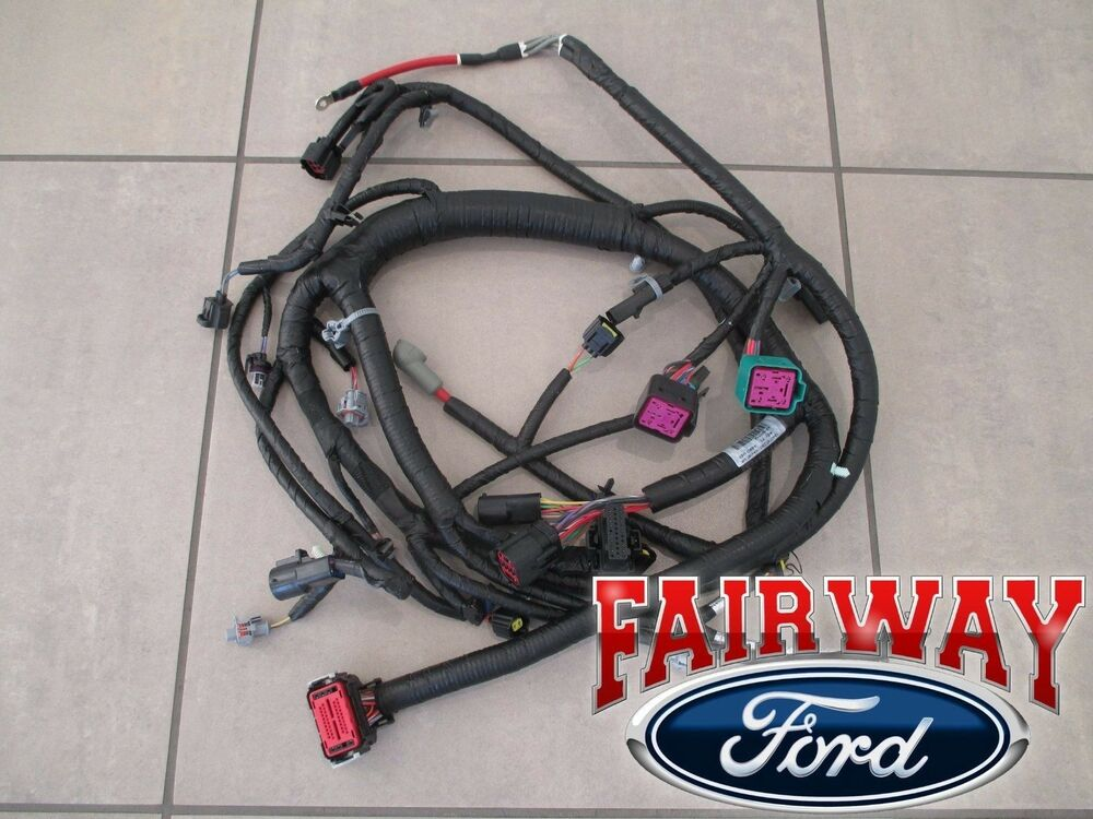 03 04 super duty oem ford engine wiring harness 6 0l 1 30. Black Bedroom Furniture Sets. Home Design Ideas