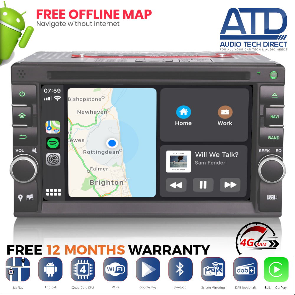 6 2 android 8 0 oreo gps sat nav dvd dab radio bt stereo. Black Bedroom Furniture Sets. Home Design Ideas