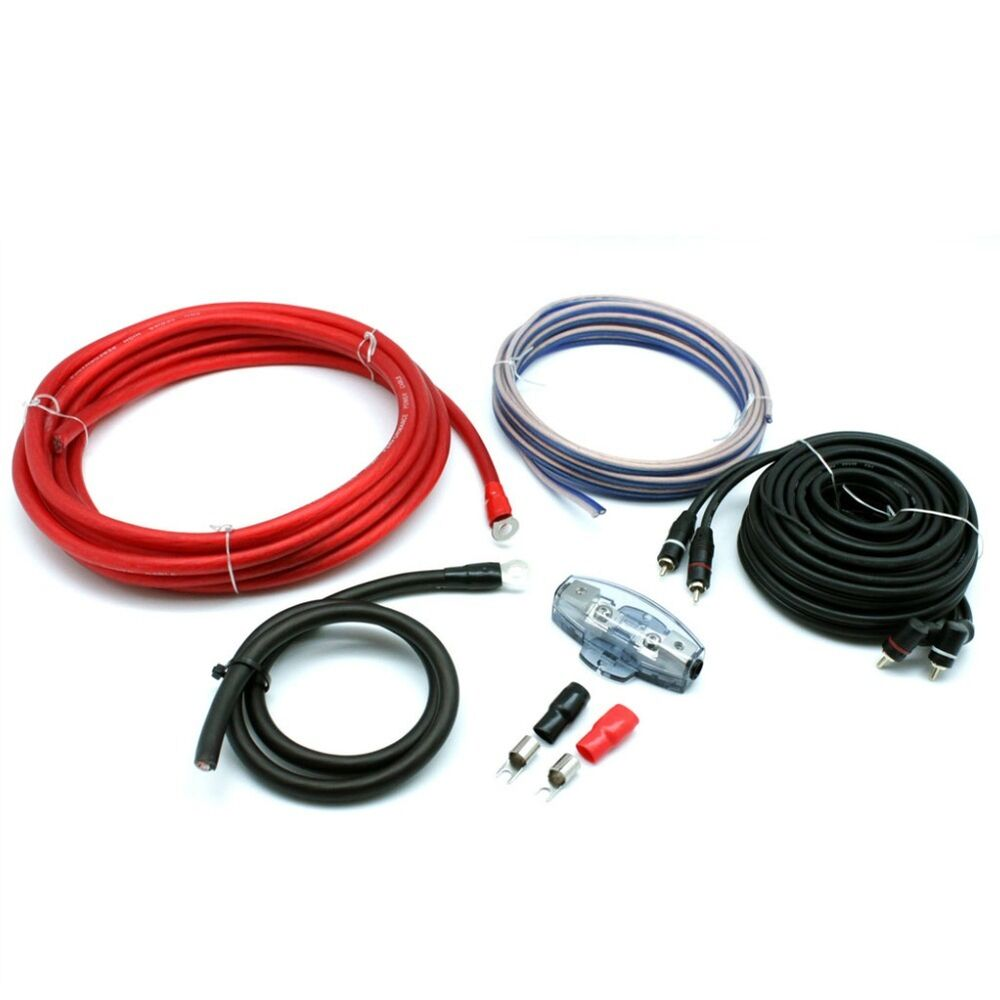 Cable Kit Rca Connects2 Pro Four Pro4 4 Awg 1000 Watts Rms Fusible Vibe Slick Gauge 2000w Amplifier Wiring Car Amp Power Wire Anl 80 Ampere 5055193349011 Ebay