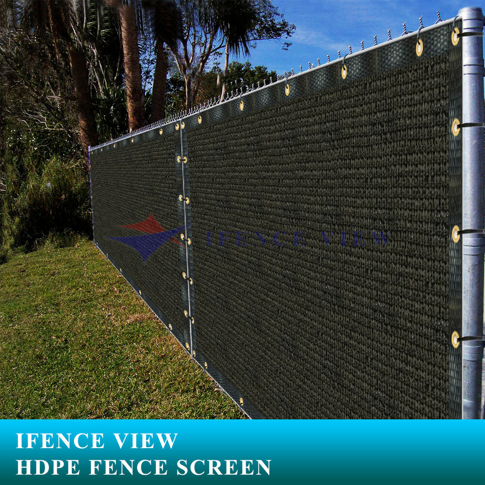 Privacy screen for chain link fence ebay - Ifenceview 4 X12 Black Fence Privacy Screen Mesh For Construction Yard Garden Ebay