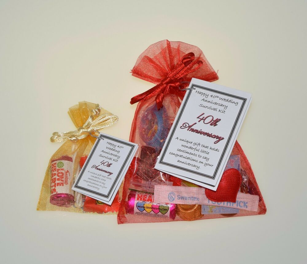 40th Wedding Anniversary Gift Ideas For Friends: Happy 40th Wedding Anniversary Survival Kit (Ruby Unusual