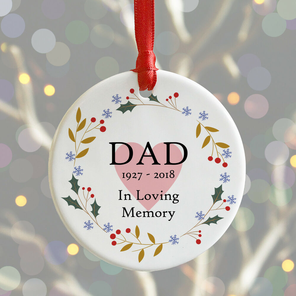 Personalised Christmas Remembrance Bauble IN LOVING MEMORY Xmas ...