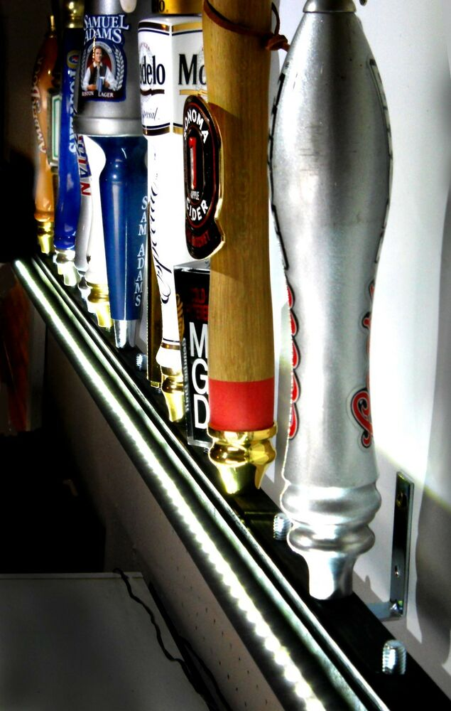 Led Lighted Wall Mount 18 Beer Tap Handle Display Includes