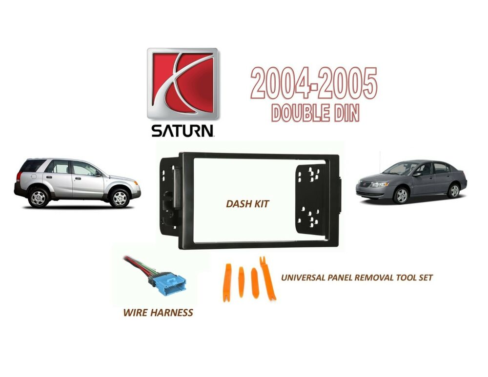 2004 2005 Saturn Ion Vue Car Stereo Double Din Install Dash Kit