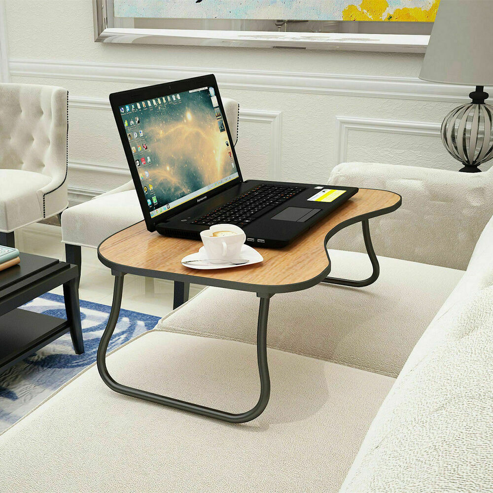 Folding lap desk portable standing bed desk computer for Mobile porta pc ikea