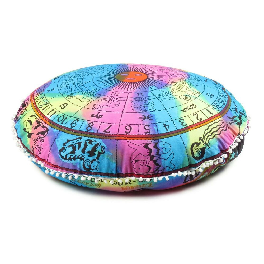 Mandala Round Case Cushion Cover Floor Pillow Bohemian