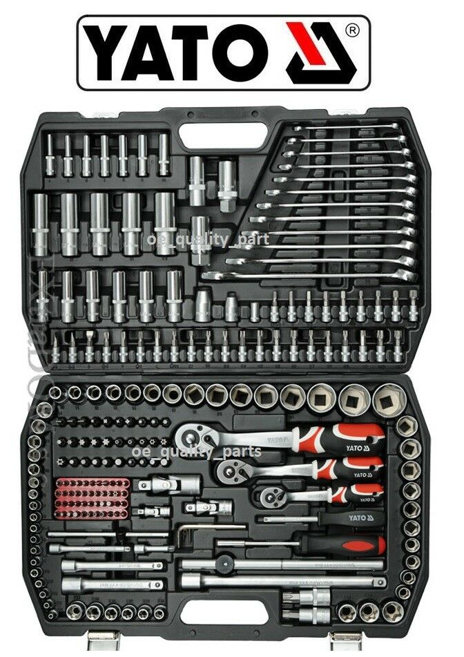 78da02f611b Yato Ratchet Socket Set 216 pcs 1 2 1 4 3 8 Hand Tools Toolbox Driver YT-38841  5906083909535