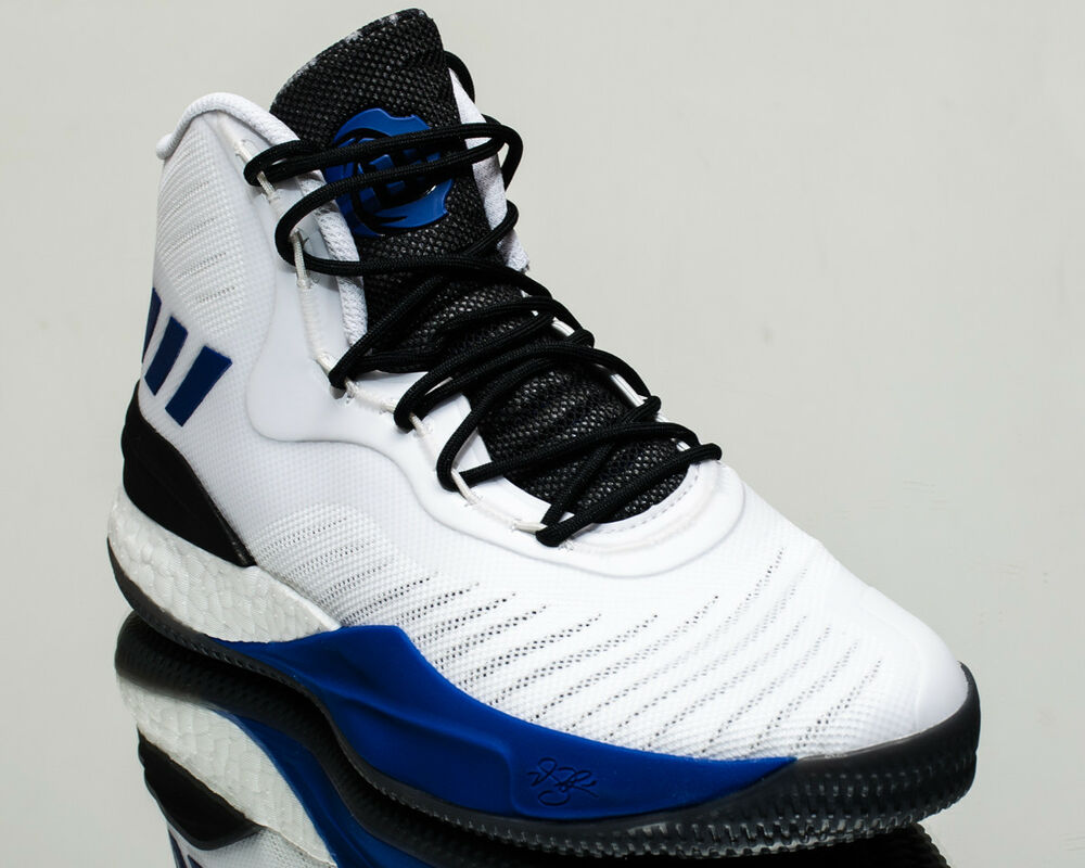 big sale 7b0f5 6ee75 Details about adidas D Rose 8 men basketball shoes white black blue CQ0830