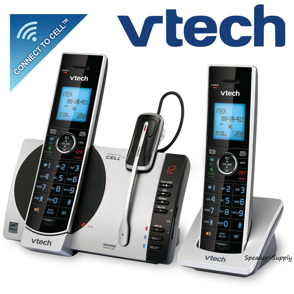 Vtech 2 Handset Connect To Cell Answering System W