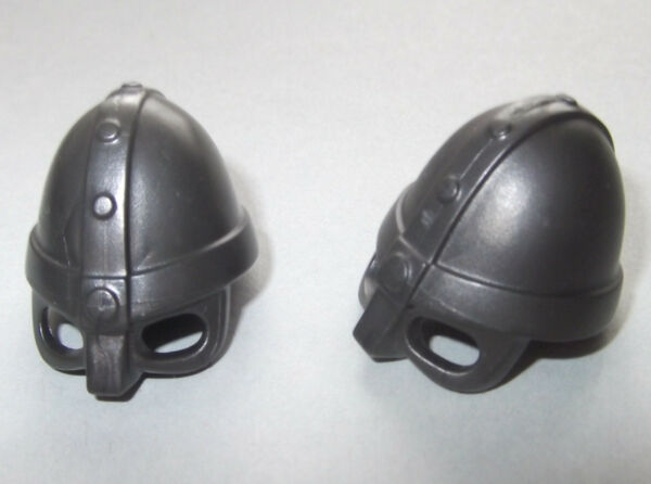 13383 Hörnerhelm 2x Helm anthrazit