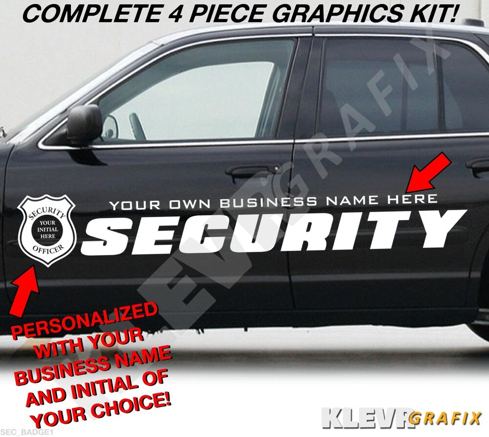 Details about custom security company vehicle vinyl graphics decals kit police badge1